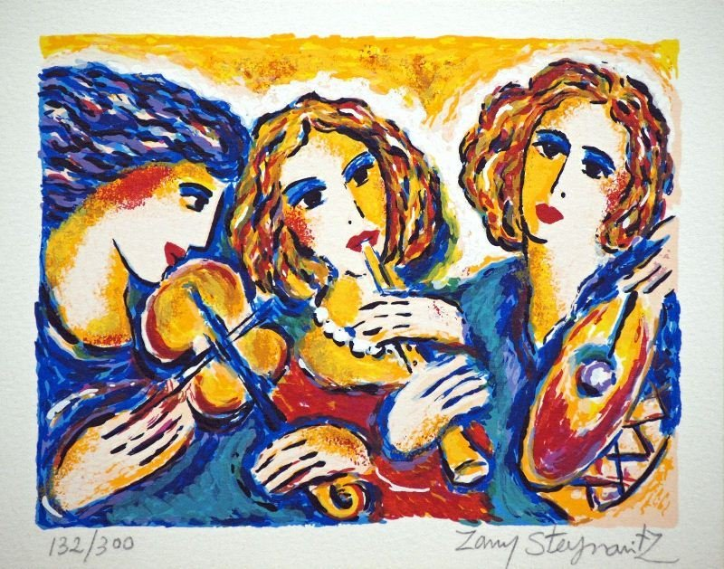 Breathtaken Musicians by Zamy Steynovitz - Serigraph on