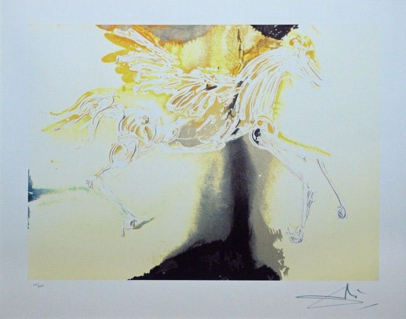 Pegasus by Salvador Dali - Offset Lithograph - Animals