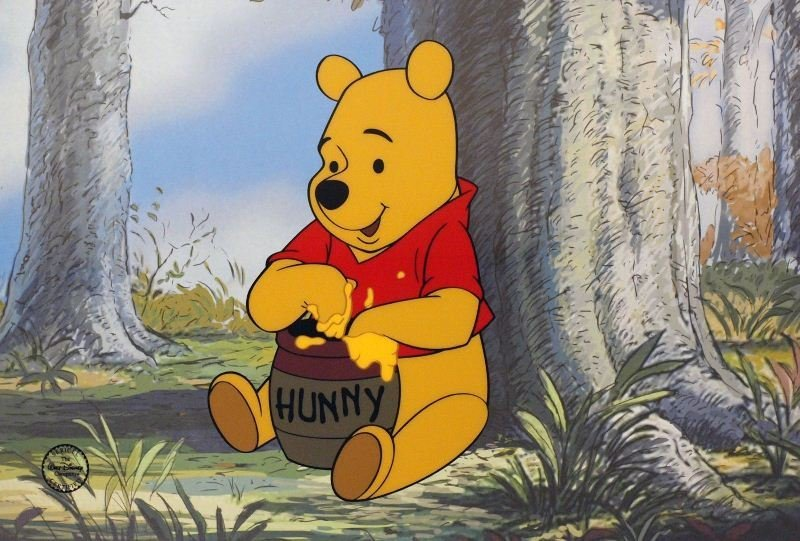 Winnie The Pooh by Walt Disney - Animation Sericel -