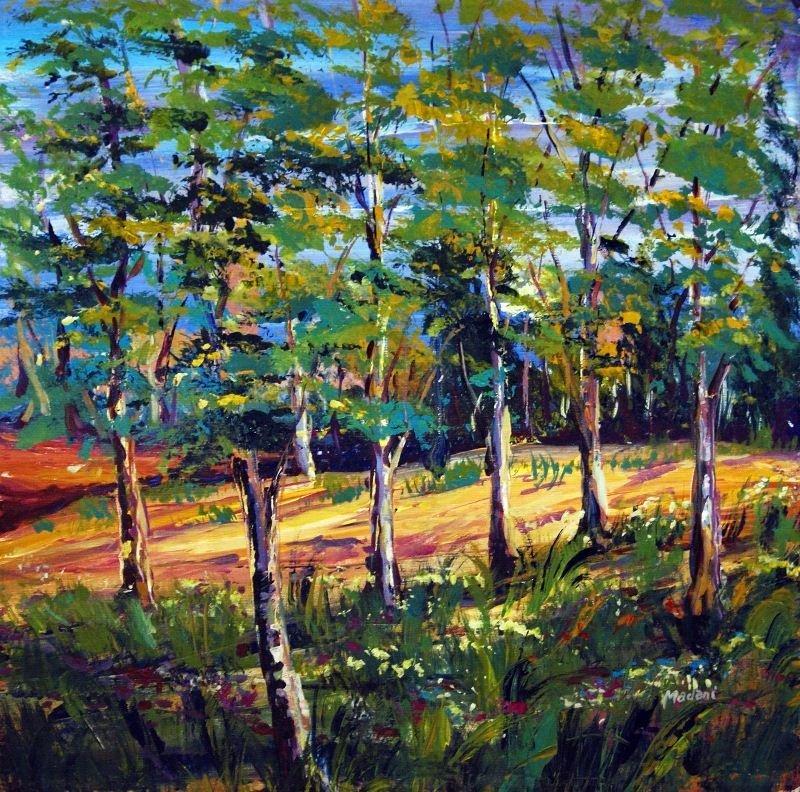 Untitled by Madani - Original Oil on Canvas - Plants &