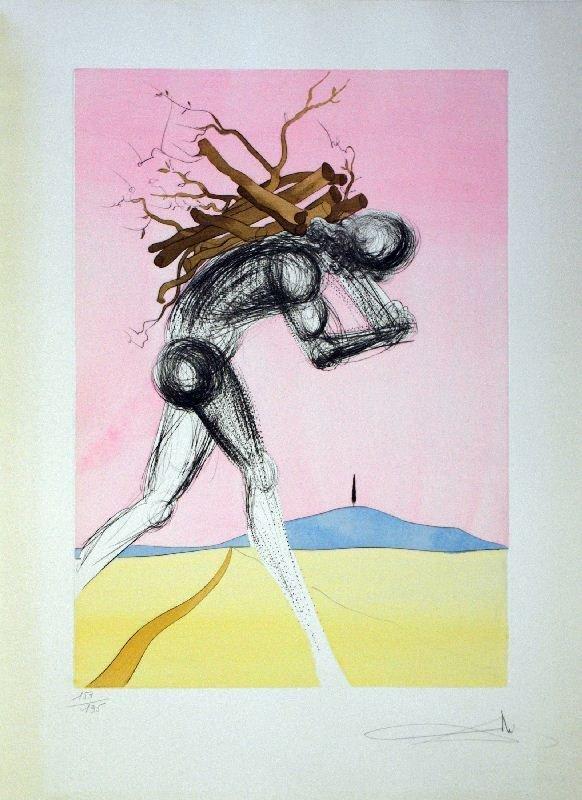 Salvador Dali, Issachar, Etching