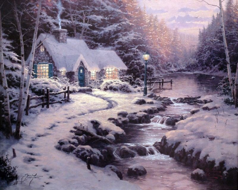 Evening Glow by Thomas Kinkade - Lithograph on Paper -