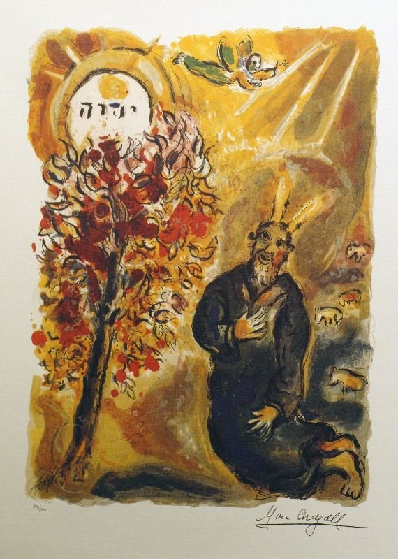 Tree by Marc Chagall - Lithograph on Paper - Religion &