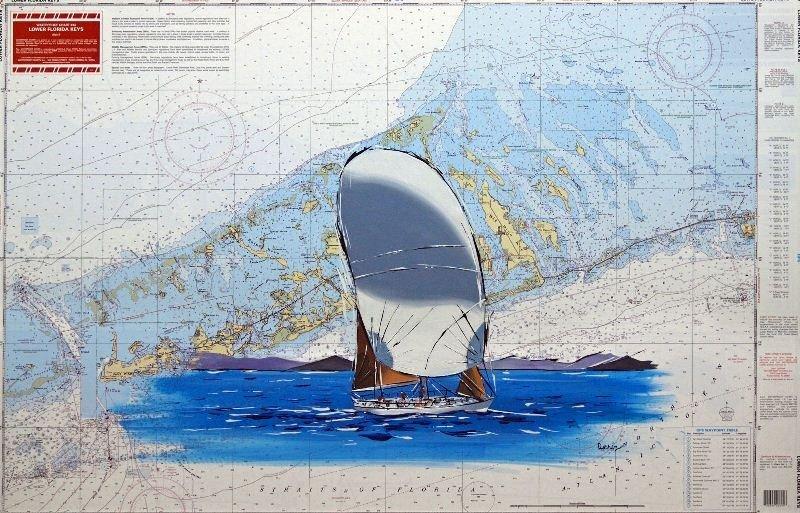 Lower Keys by Ilkin Deniz - Mixed Media - Boats (23.5H