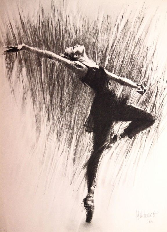 Passe by Aldo Luongo - Lithograph on Paper - Dance &