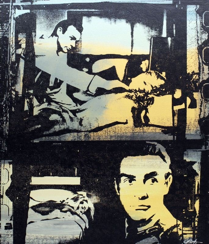 Sean Connery by Gail Rodgers - Mixed Media - Pop Art