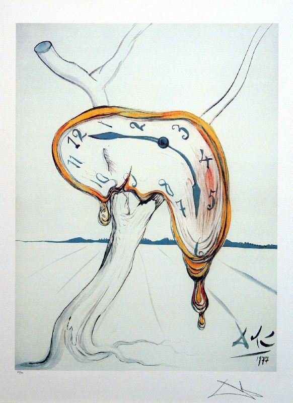 Tearful Watch by Salvador Dali - Lithograph on Paper -