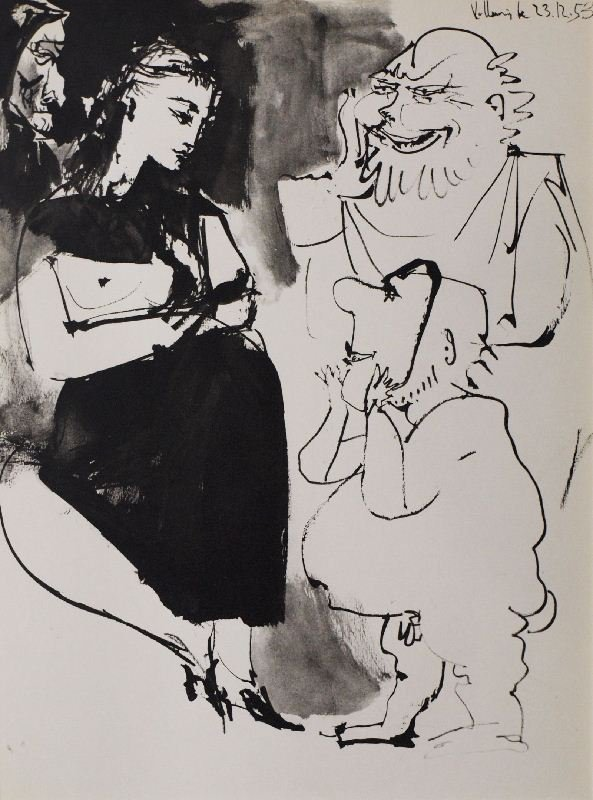 Untitled by Pablo Picasso - Lithographic Bookplate -