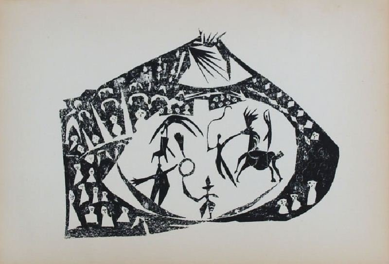 Circus by Pablo Picasso - Lithographic Bookplate -