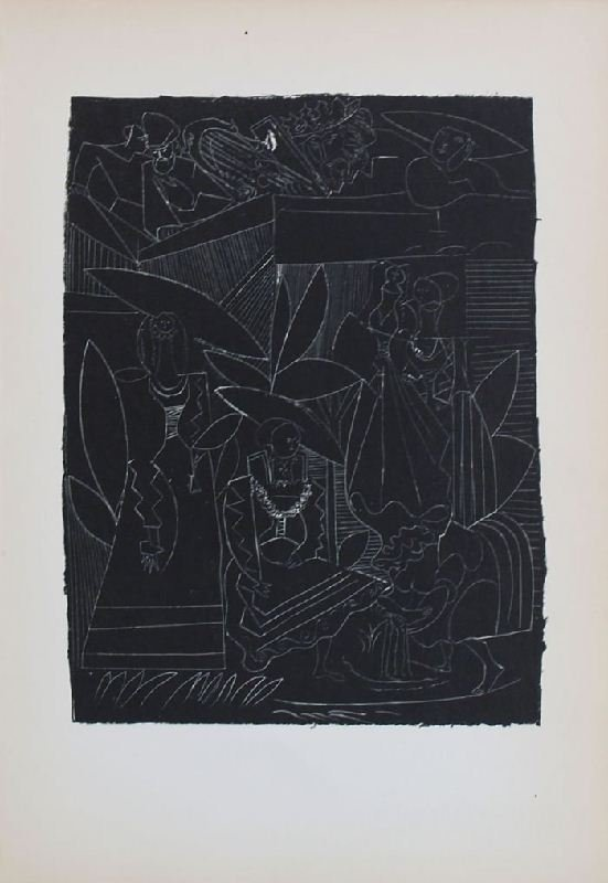 David and Bathsheba III by Pablo Picasso - Lithographic