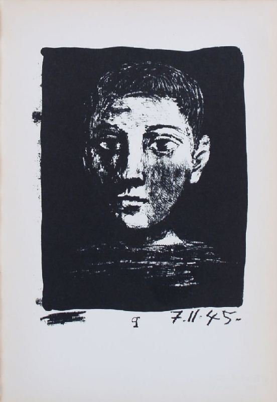Head of a Boy by Pablo Picasso - Lithographic Bookplate