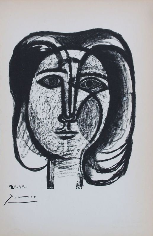 Head of a Girl I by Pablo Picasso - Lithographic
