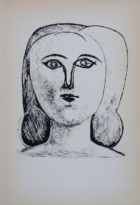 Head of a Girl II by Pablo Picasso - Lithographic