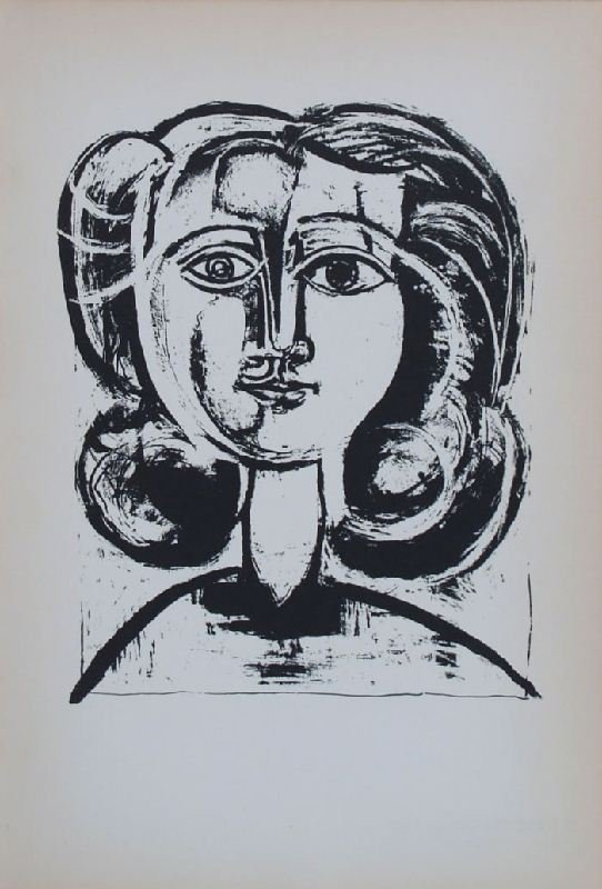 Head of a Girl III by Pablo Picasso - Lithographic