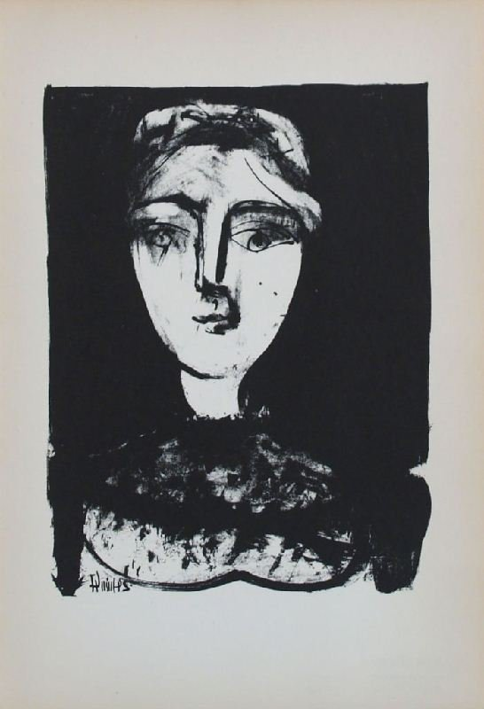 Head of a Girl IV by Pablo Picasso - Lithographic