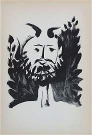 Laughing Fawn by Pablo Picasso - Lithographic Bookplate