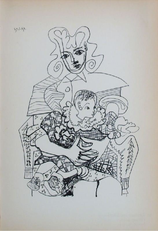 Mother and Child II by Pablo Picasso - Lithographic