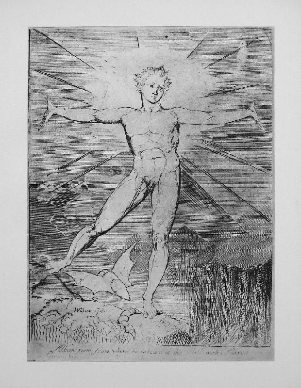 Glad Day or Morning by William Blake - Lithographic