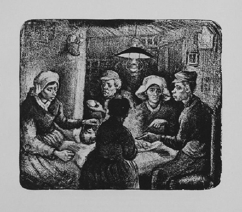 The Potato Eaters by Vincent van Gogh - Lithographic