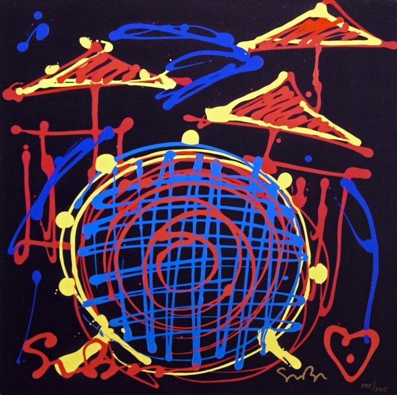 The Beat by Simon Bull - Giclee on Canvas - Abstract
