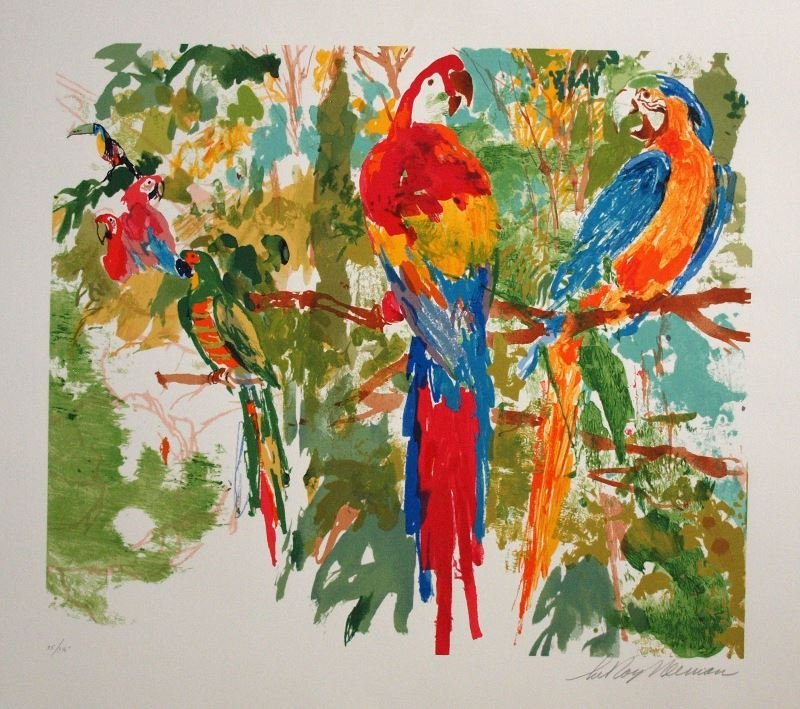 Birds of Paradise by LeRoy Neiman - Serigraph on Paper