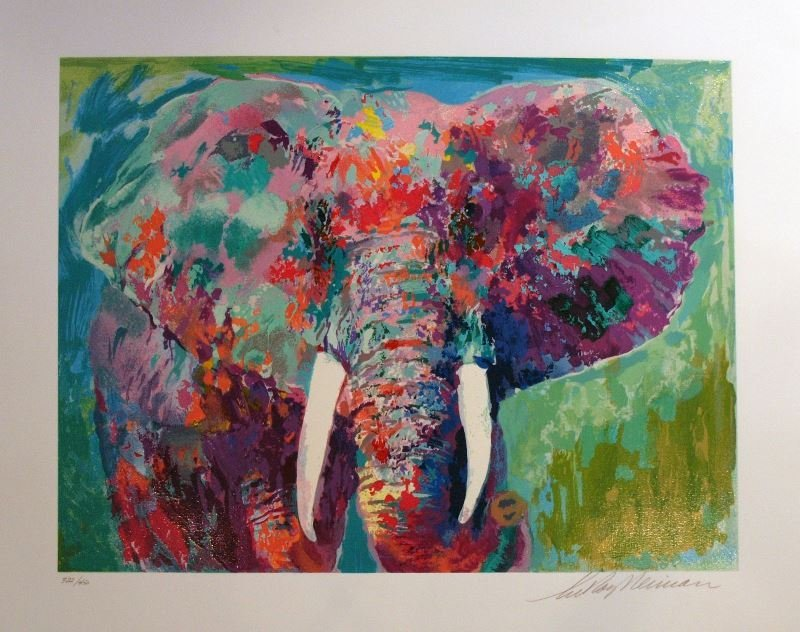 Charging Bull by LeRoy Neiman - Serigraph on Paper -
