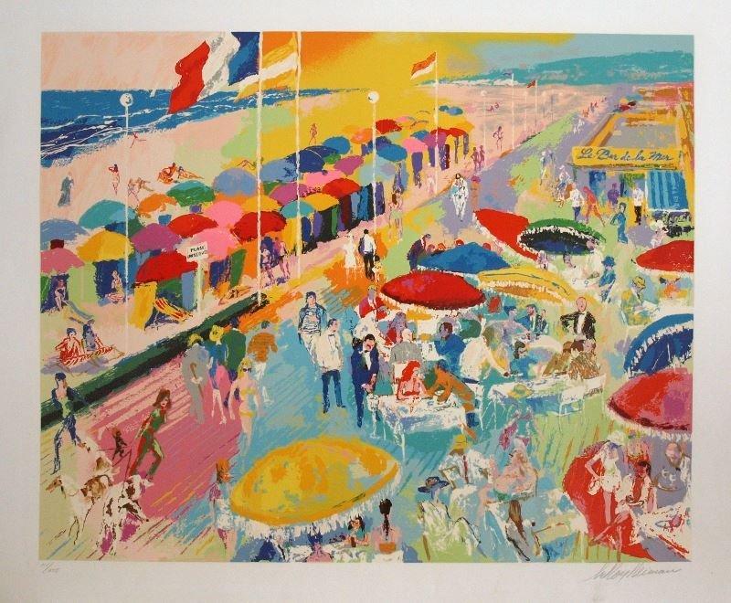 La Plage Deauville by LeRoy Neiman - Serigraph on Paper