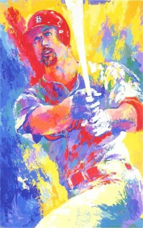 Mark McGwire by LeRoy Neiman - Serigraph on Paper -