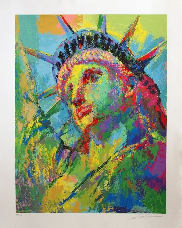 Portrait of Liberty by LeRoy Neiman - Serigraph on