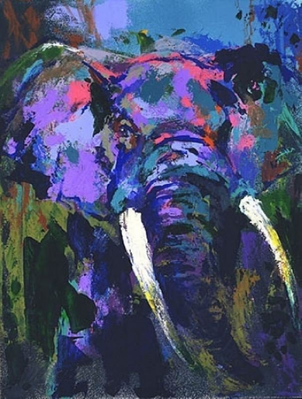 Portrait of the Elephant by LeRoy Neiman - Serigraph on