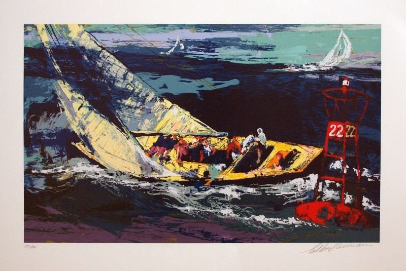 1970 America's Cup by LeRoy Neiman - Serigraph on Paper