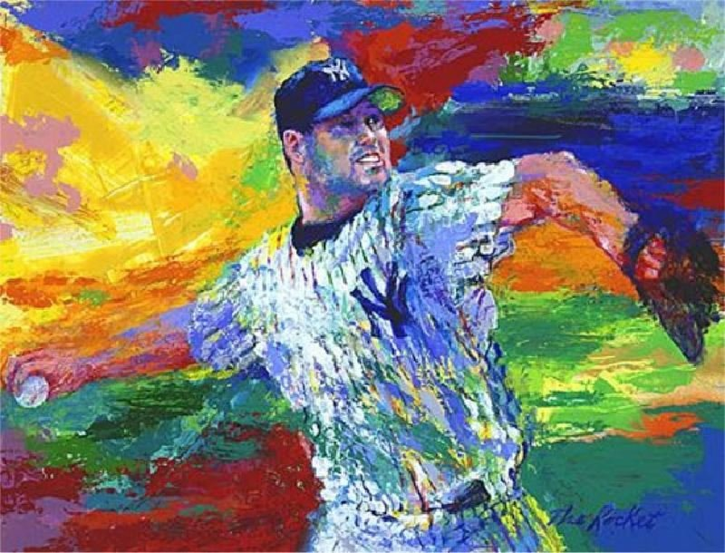 Roger Clemens - The Rocket by LeRoy Neiman - Serigraph