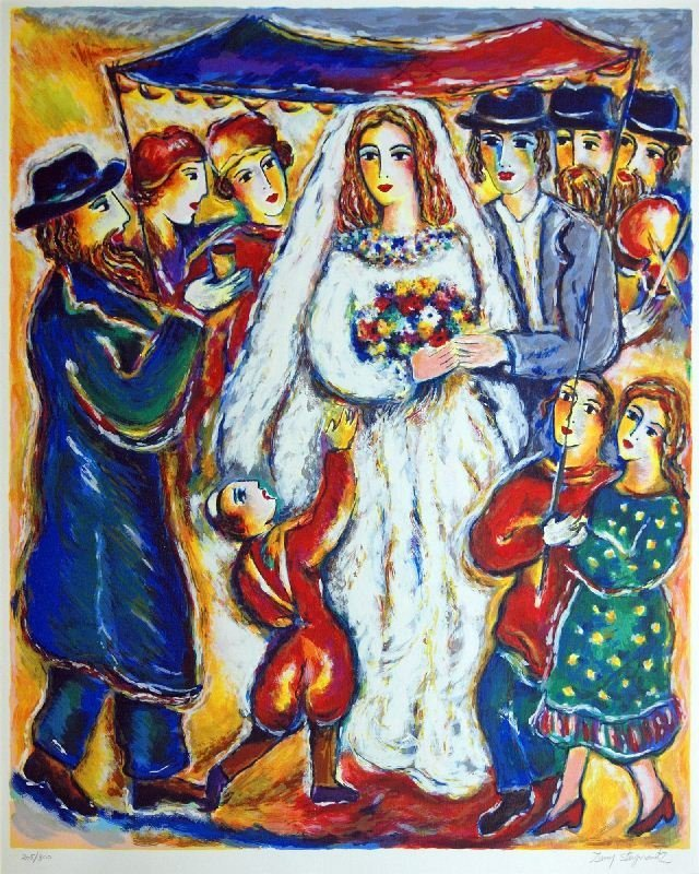 Jewish Wedding by Zamy Steynovitz - Serigraph on Paper