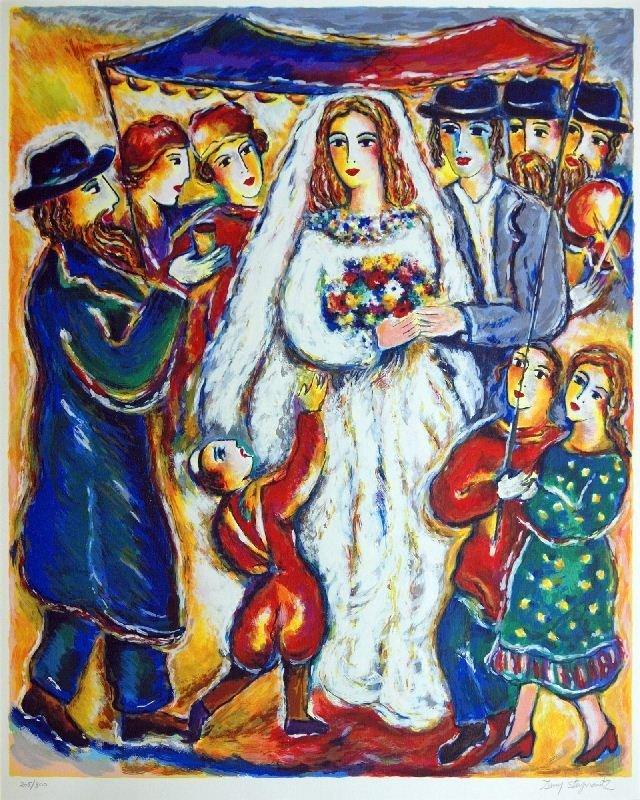 Jewish Wedding by Zamy Steynovitz - Serigraph on Paper