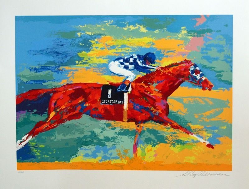 Great Secretariat by LeRoy Neiman - Serigraph on Paper
