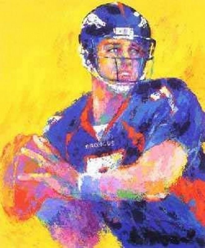 John Elway by LeRoy Neiman - Serigraph on Paper -