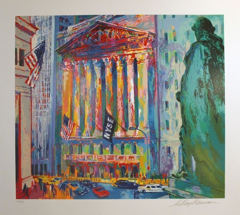 New York Stock Exchange by LeRoy Neiman - Serigraph on