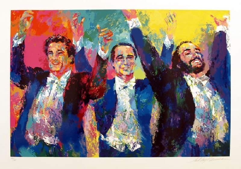 The Three Tenors by LeRoy Neiman - Serigraph on Paper -