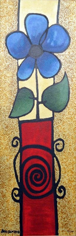 Bud Vase by Avi Ben-Simhon - Serigraph on Paper -