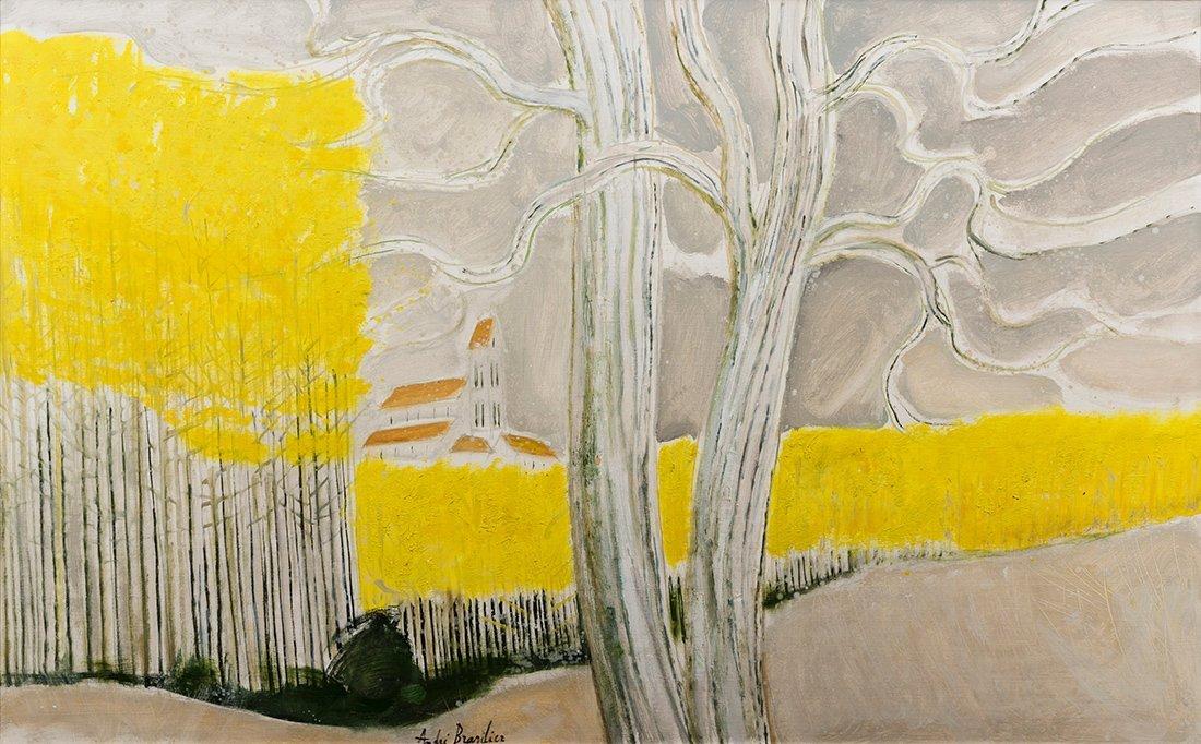 Andre Brasilier (B. 1929) Les Peupliers Jaunes, 1977