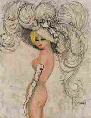 Charles LeMaire (1897-1985) Fashion Sketch