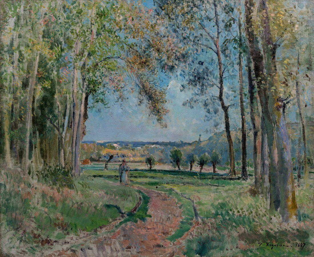 Victor Vignon (1847-1909) Paysage, 1887