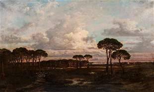 Gustave Dore (1832-1883) Landscape with Umbrella Pines