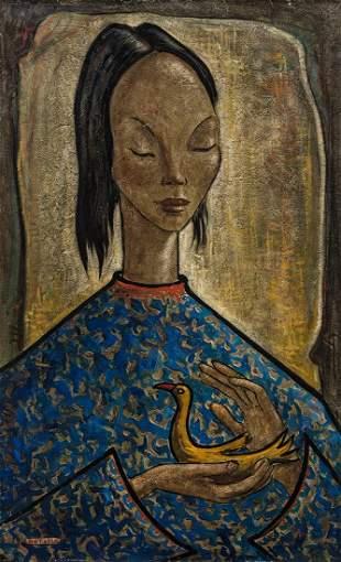Angel Botello (1913-1986) Portrait