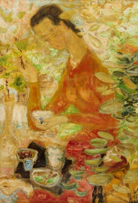 Le Pho (1907-2001) Le Repas, circa 1950