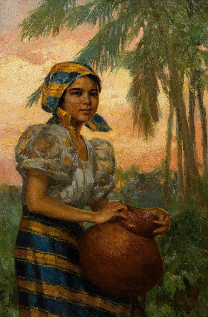 Fernando Amorsolo (1892-1972) Girl with Jar, 1935