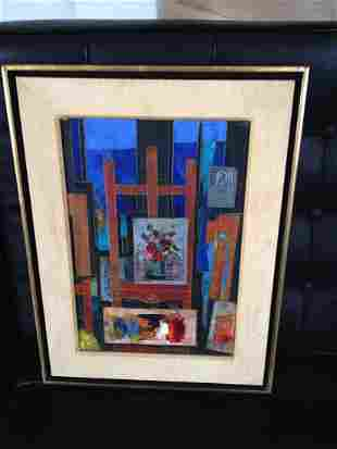 Tony Agostini (Italian 1916-2000) Oil on Canvas