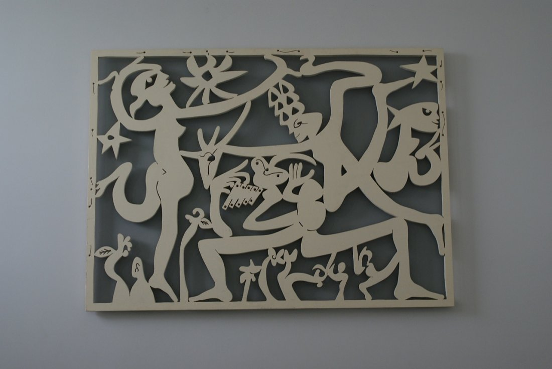 Roberto Matta (1911-2002) bas relief signed and titled