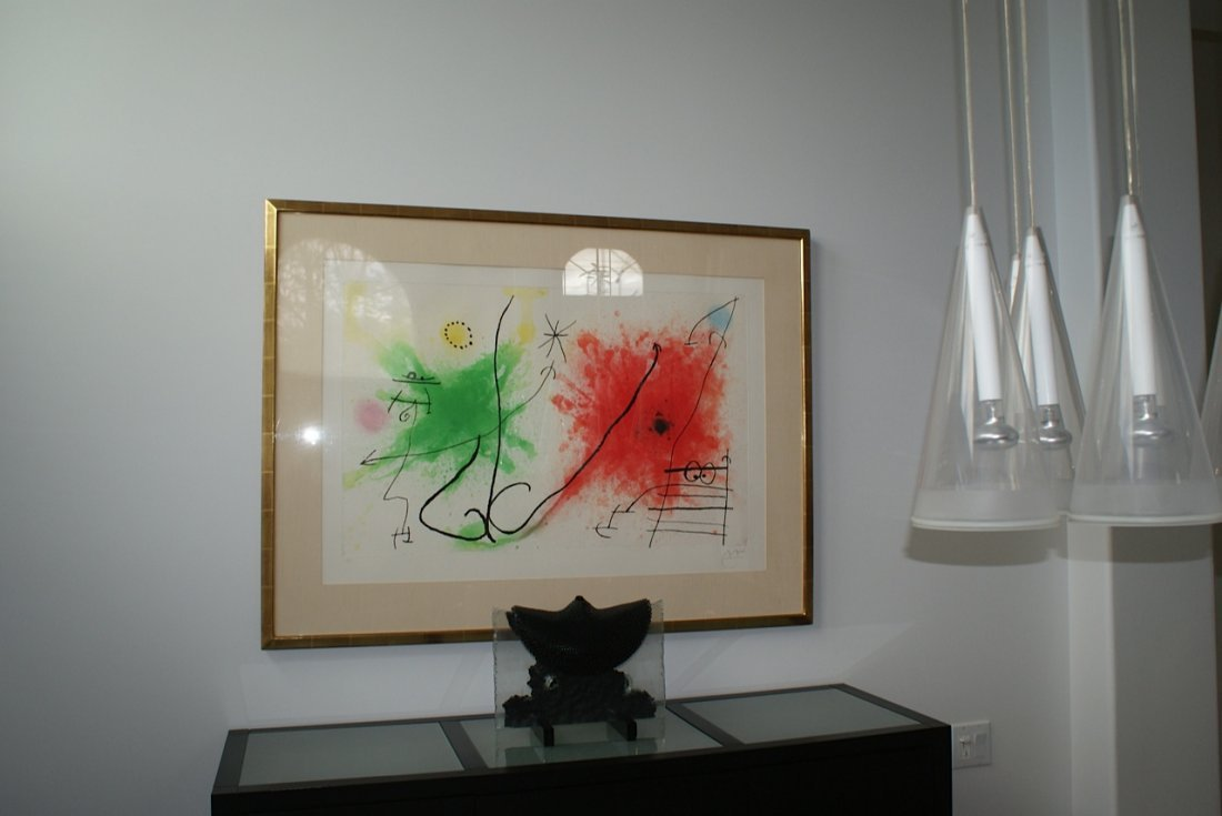Joan Miro, Aquatint in Colors, 16/75 Rare Etching 1967