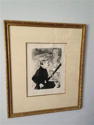 """Toulouse-Lautrec (1864-1901) Lithograph """"Pour Toi"""""""